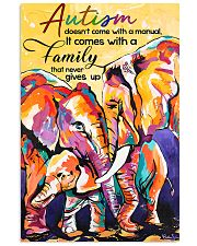 Autism doesn't come with a manual family 11x17 Poster front
