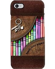 Teacher love inspire leather pattern print filein Phone Case i-phone-8-case