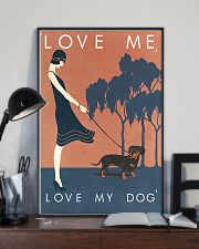 Love me love my dog 11x17 Poster lifestyle-poster-2