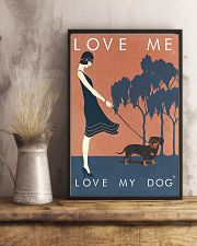 Love me love my dog 11x17 Poster lifestyle-poster-3