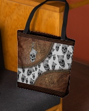 Skull Leather pattern print All-over Tote aos-all-over-tote-lifestyle-front-02