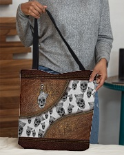 Skull Leather pattern print All-over Tote aos-all-over-tote-lifestyle-front-10