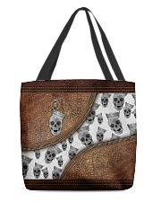Skull Leather pattern print All-over Tote back