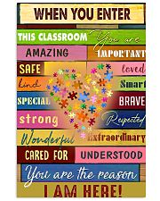 When you enter this classroom 11x17 Poster front