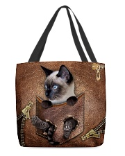 Cat in pocket All-over Tote back