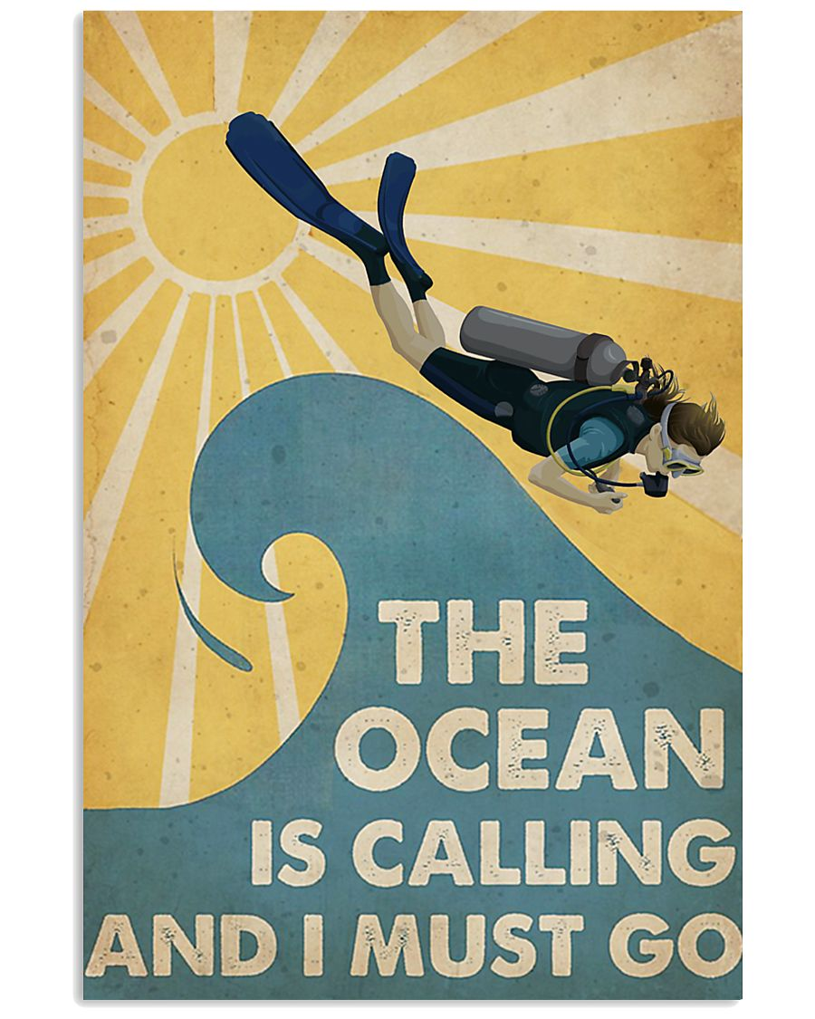 The ocean is calling I must go 11x17 Poster