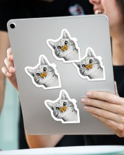 Butterfly and cat  Sticker - 4 pack (Vertical) aos-sticker-4-pack-vertical-lifestyle-front-11
