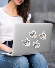 Butterfly and cat  Sticker - 4 pack (Vertical) aos-sticker-4-pack-vertical-lifestyle-front-15