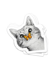 Butterfly and cat  Sticker - 4 pack (Vertical) front