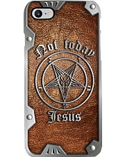 Not today Jesus leather pattern print Phone Case i-phone-8-case
