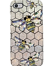Queen Bee Stained Glass Pattern Print Phone Case i-phone-8-case