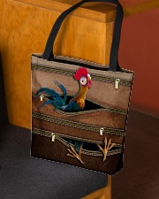 Chicken Leather Pattern Print All-over Tote aos-all-over-tote-lifestyle-front-02