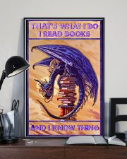 That's what I do I read books and I know thing 11x17 Poster lifestyle-poster-2