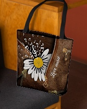 Love Music Leather Pattern Print All-over Tote aos-all-over-tote-lifestyle-front-02