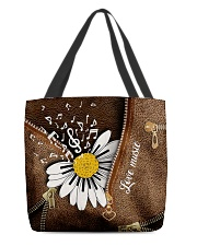Love Music Leather Pattern Print All-over Tote back