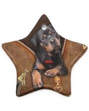 Rottweilers leather pattern print Star Ornament (Porcelain) tile