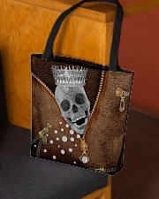 King of skull Leather pattern print All-over Tote aos-all-over-tote-lifestyle-front-02