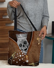 King of skull Leather pattern print All-over Tote aos-all-over-tote-lifestyle-front-10