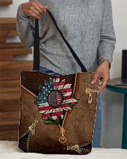 American sunflower  All-over Tote aos-all-over-tote-lifestyle-front-10