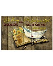 Be strong and courageous 17x11 Poster front