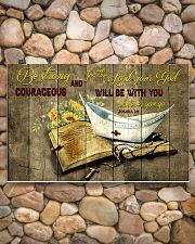 Be strong and courageous 17x11 Poster poster-landscape-17x11-lifestyle-15