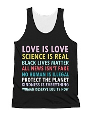 Dj Proper Love and Equity All-over Unisex Tank front