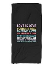 Dj Proper Love and Equity Beach Towel tile