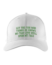 Let the fish who knows no fear Embroidered Hat front