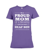 I'm a Proud MOM - Deaf Son Premium Fit Ladies Tee thumbnail