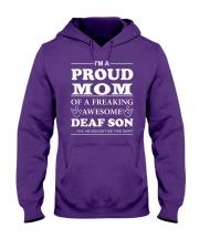 I'm a Proud MOM - Deaf Son Hooded Sweatshirt thumbnail