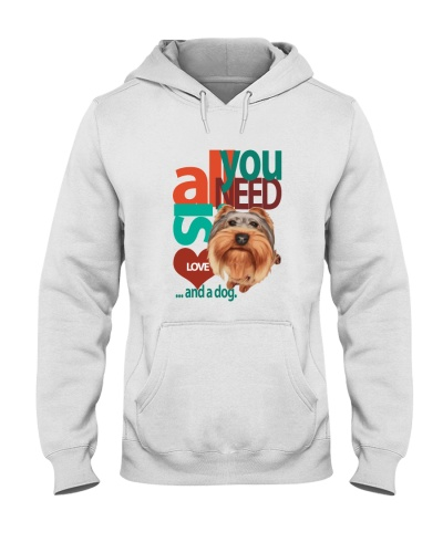 Yorkishire love and dog t shirt