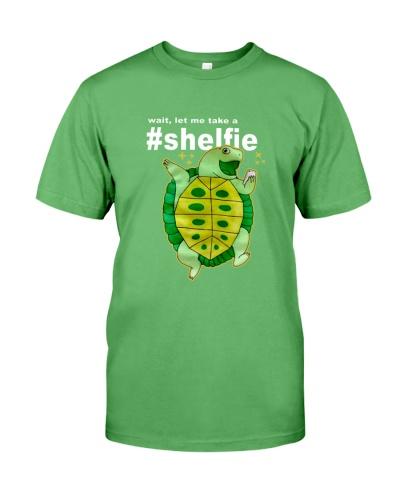 Funny Wait Let Me Take A Shelfie Turtle T Shirt