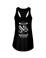 Never Underestimate A Woman With Boxing Gloves Ladies Flowy Tank thumbnail