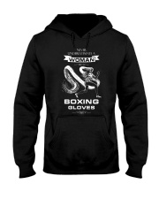 Never Underestimate A Woman With Boxing Gloves Hooded Sweatshirt thumbnail