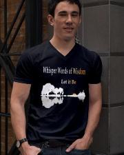 Whisper Words Of Wisdom Let It Be Shirt V-Neck T-Shirt lifestyle-mens-vneck-front-2