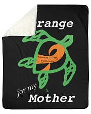"I wear Orange for my Mother Sherpa Fleece Blanket - 50"" x 60"" thumbnail"