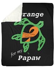 """I wear Orange for my Papaw Sherpa Fleece Blanket - 50"""" x 60"""" thumbnail"""