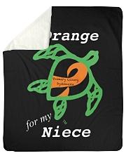 """I wear Orange for my Niece Sherpa Fleece Blanket - 50"""" x 60"""" thumbnail"""