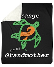 "I wear Orange for my Grandmother Sherpa Fleece Blanket - 50"" x 60"" thumbnail"