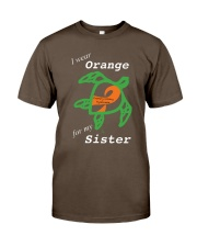 I wear Orange for my Sister Premium Fit Mens Tee thumbnail
