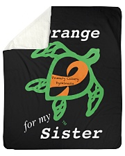 "I wear Orange for my Sister Sherpa Fleece Blanket - 50"" x 60"" thumbnail"