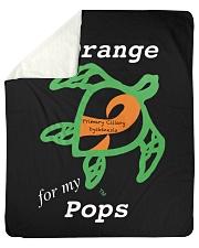 """I wear Orange for my Pops Sherpa Fleece Blanket - 50"""" x 60"""" thumbnail"""