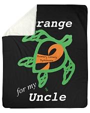 """I wear Orange for my Uncle Sherpa Fleece Blanket - 50"""" x 60"""" thumbnail"""