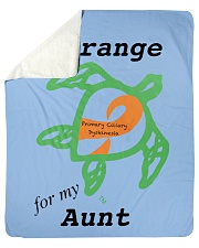 """I wear Orange for my Aunt b Sherpa Fleece Blanket - 50"""" x 60"""" thumbnail"""