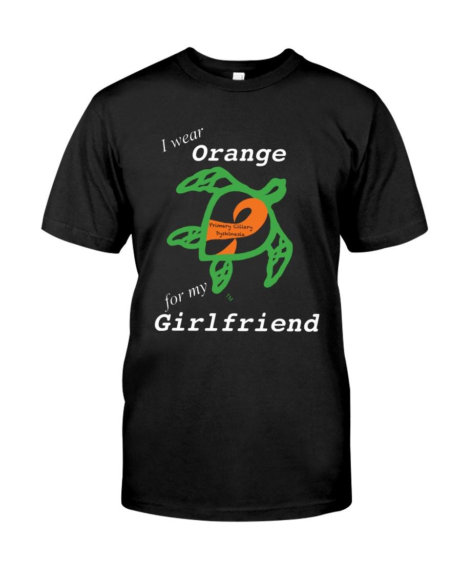 I wear Orange for my Girlfriend Classic T-Shirt
