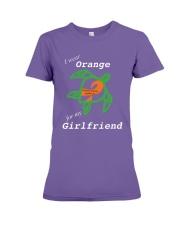 I wear Orange for my Girlfriend Premium Fit Ladies Tee thumbnail