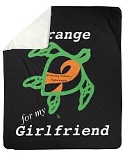 """I wear Orange for my Girlfriend Sherpa Fleece Blanket - 50"""" x 60"""" thumbnail"""