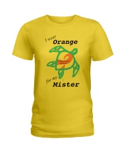 I wear Orange for my Mister b Ladies T-Shirt thumbnail