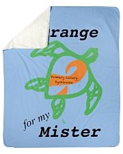 "I wear Orange for my Mister b Sherpa Fleece Blanket - 50"" x 60"" thumbnail"