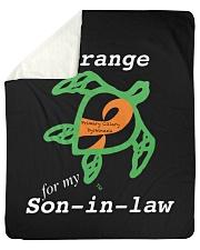"""I wear Orange for my Son-in-law Sherpa Fleece Blanket - 50"""" x 60"""" thumbnail"""